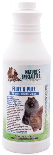 FLUFF & PUFF FEUCHTIGKEITSSPRAY für Hunde, Katzen, Welpen und Kleintiere