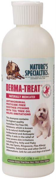 DERMA-TREAT®  Teebaumöl Melaleuca Shampoo für Hunde, Katzen, Welpen und Kleintiere