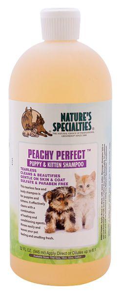 PEACHY PERFECT tränenfreies Welpenshampoo Shampoo für Hunde, Katzen, Welpen und Kleintiere