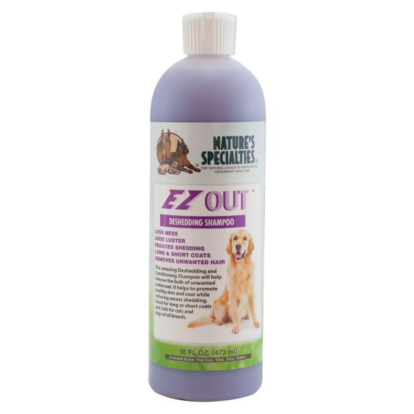 EZ OUT™ Entfilzungs und Unterwollentfernungs Shampoo für Hunde, Katzen, Welpen und Kleintiere