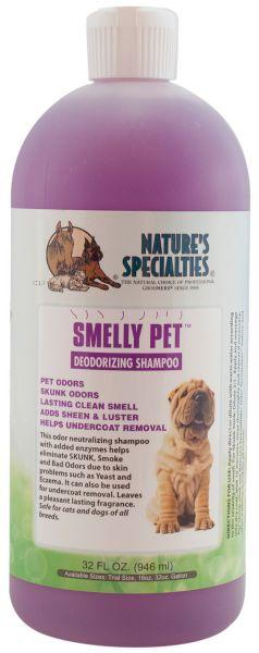SMELLY PET™  Geruchsneutralisierendes Shampoo für Hunde, Katzen, Welpen und Kleintiere