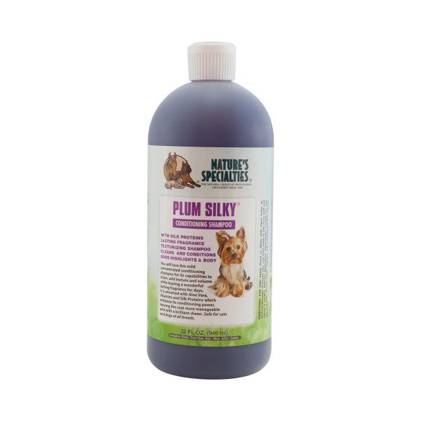PLUM SILKY SHAMPOO & CONDITIONER für Hunde, Katzen, Welpen und Kleintiere